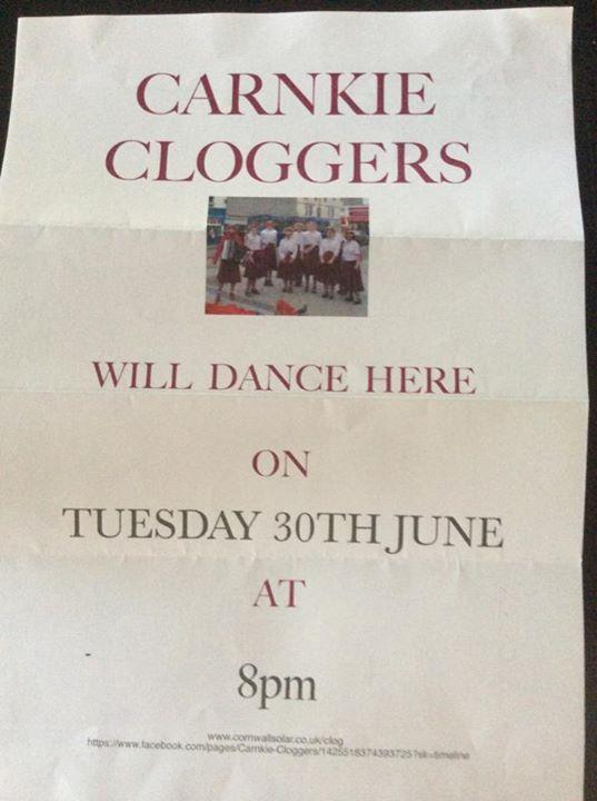 The Crankie Dancers are coming to Inn on Tuesday evening to provide some traditional dancing outside . The weather is going to be wonderful so why not come along and enjoy a beer (or two) outside and watch the dancers whilst enjoying the sunshine